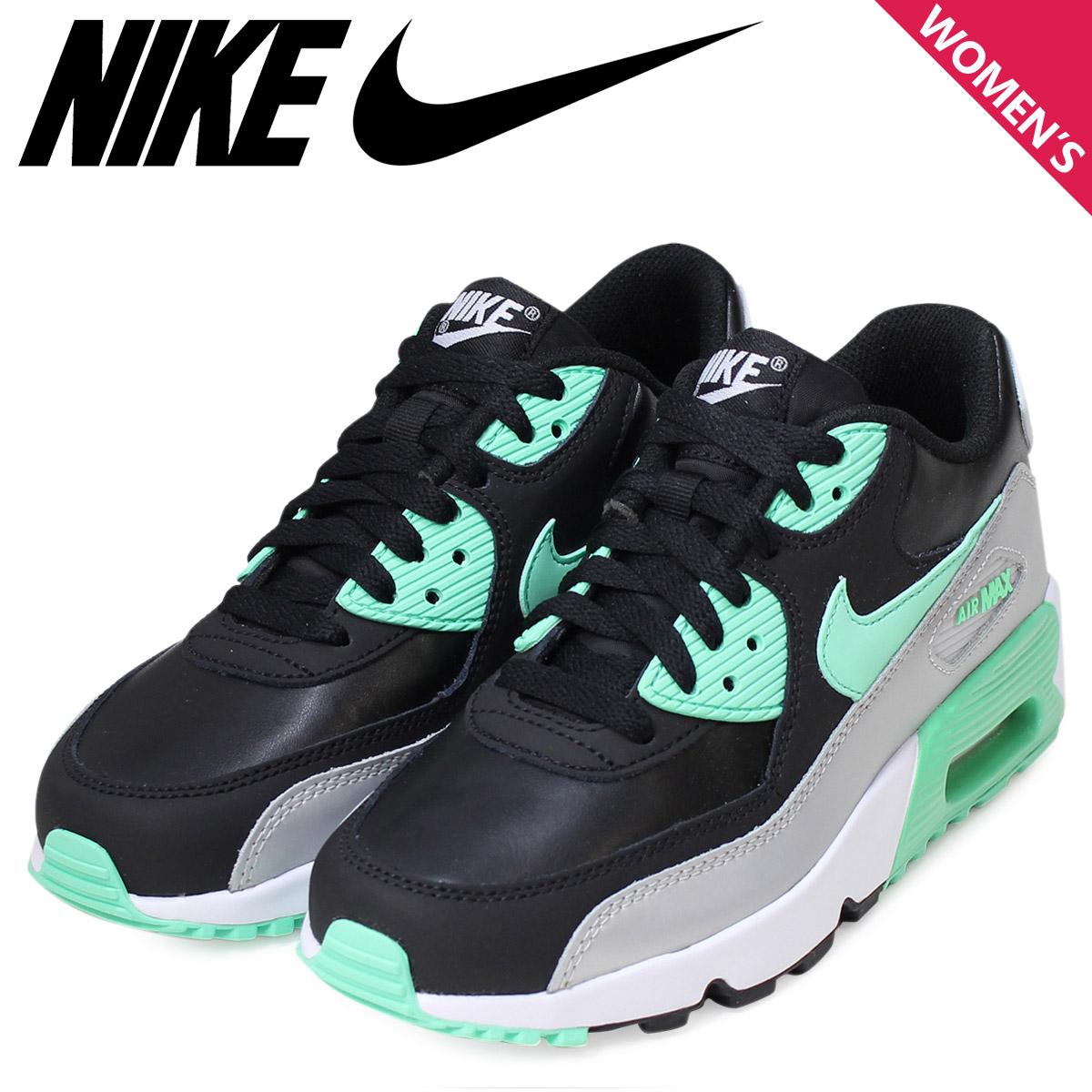 Nike NIKE Air Max Lady's sneakers AIR MAX 90 LTR GS Air Max 833,376-001  shoes black [1/13 Shinnyu load]