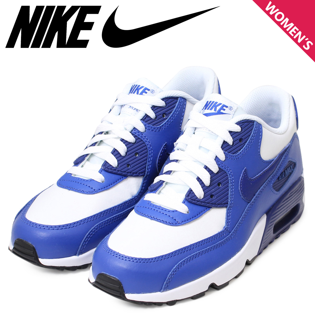 meilleure sélection a62e9 31f40 Nike NIKE Air Max Lady's sneakers AIR MAX 90 LTR GS Air Max 833,412-105  shoes white [1/13 Shinnyu load]
