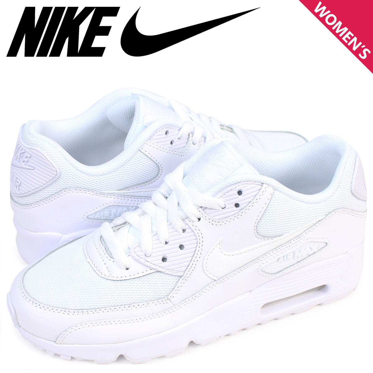 Nike NIKE Air Max 90 Lady's sneakers AIR MAX 90 MESH GS 833,418 100 shoes white [624 Shinnyu load]