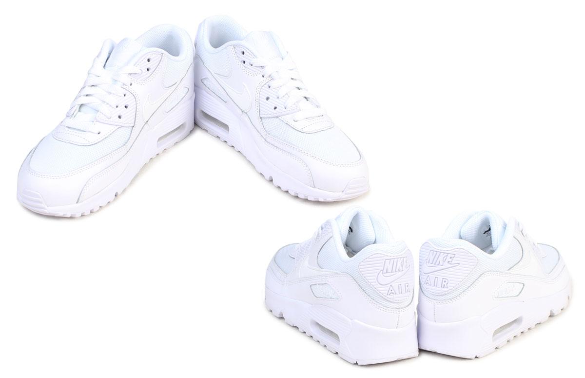 Nike NIKE Air Max 90 Lady's sneakers AIR MAX 90 MESH GS 833,418 100 shoes white [624 Shinnyu load]