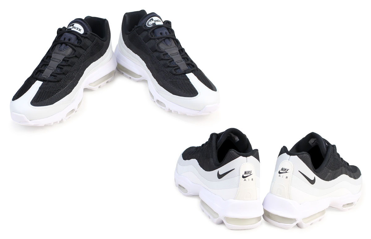 Nike NIKE Air Max 95 sneakers AIR MAX 95 ULTRA ESSENTIAL men ultra  essential 857,910-009 shoes black [6/8 Shinnyu load]