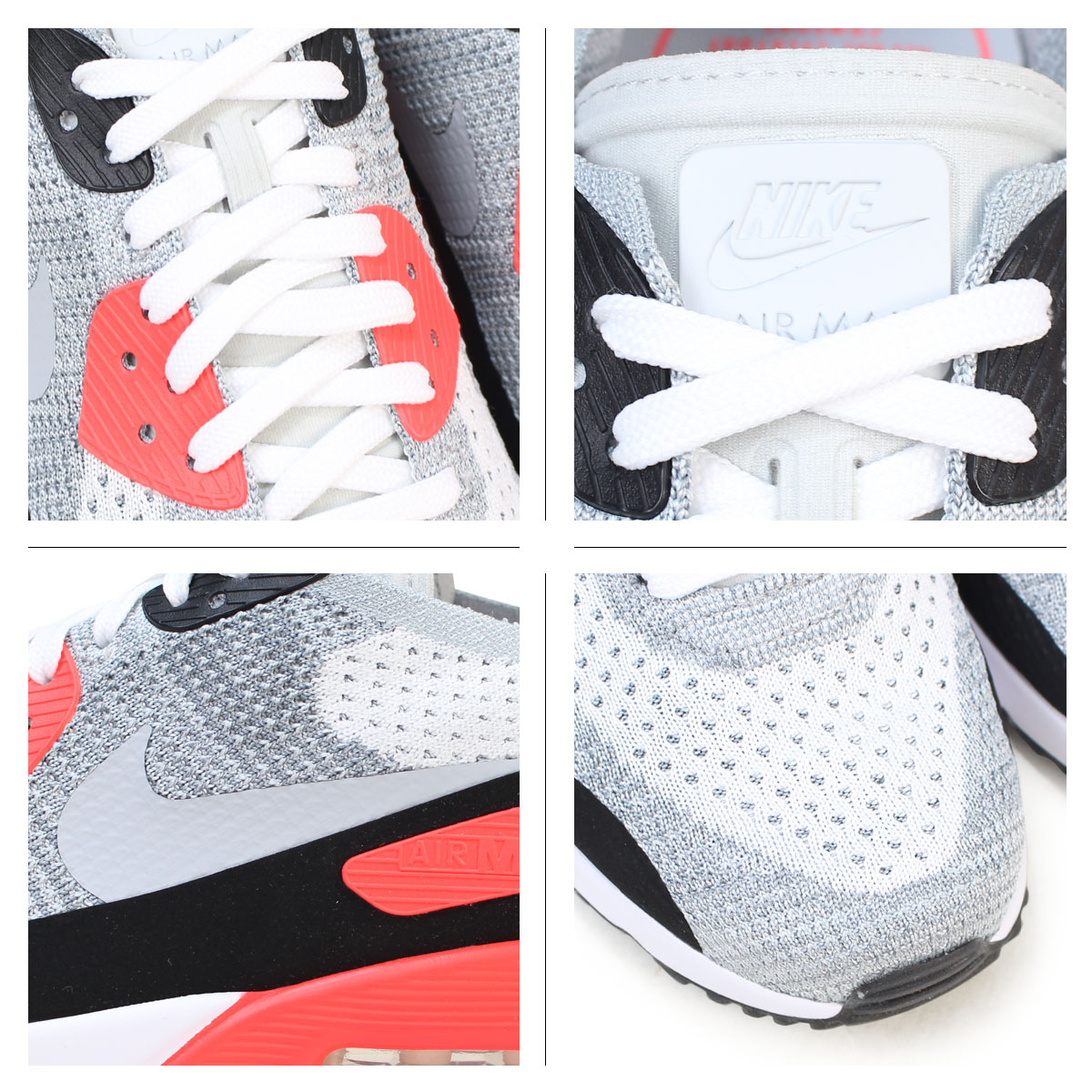 NIKE AIR MAX 90 ULTRA 2.0 FLYKNIT Kie Ney AMAX 90 ultra men sneakers 875,943 100 shoes white