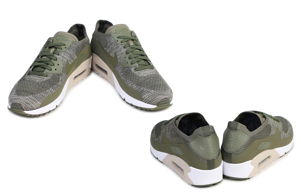 Nike NIKE Air Max 90 ultra fly knit sneakers AIR MAX 90 ULTRA 2.0 FLYKNIT 875,943 200 men's shoes olive [715 Shinnyu load]