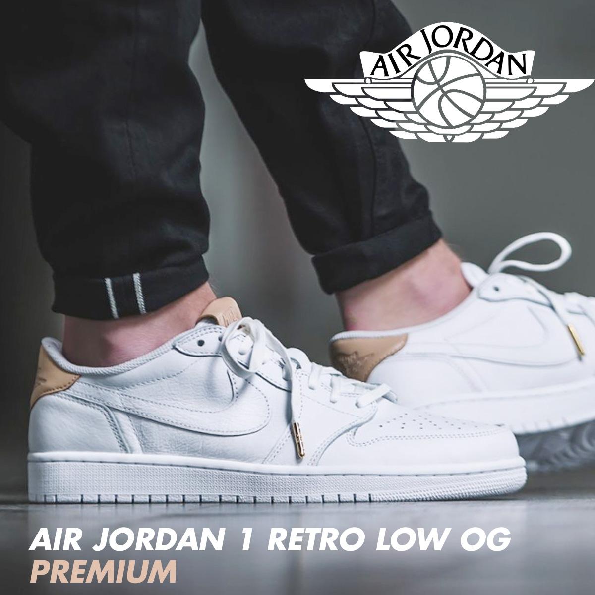 separation shoes acbda 82f71 Nike NIKE Air Jordan sneakers AIR JORDAN 1 RETRO LOW OG PREMIUM men low  905,136-100 shoes white  6 23 reentry load