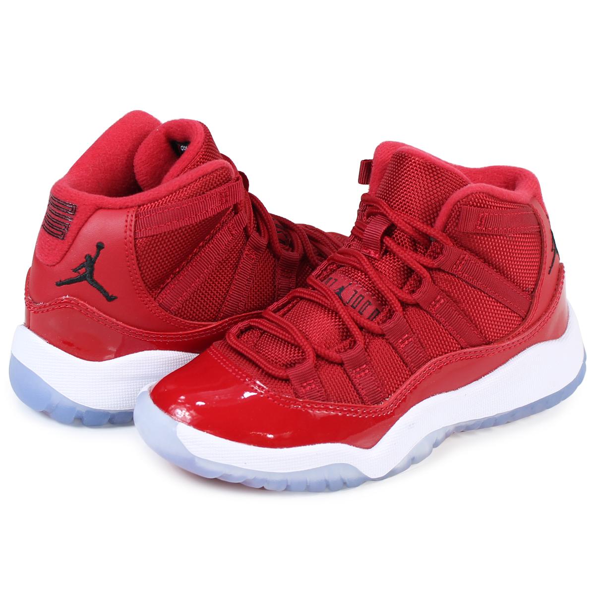 NIKE AIR JORDAN 11 BP WIN LIKE 96 Nike Air Jordan 11 kids sneakers  378,039-623 shoes red [12/22 Shinnyu load]