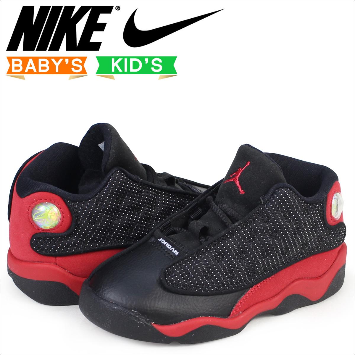 Nike NIKE Air Jordan 13 nostalgic baby sneakers AIR JORDAN 13 RETRO BT  414,581-004 shoes black [load planned Shinnyu load in reservation product  9/9 ...