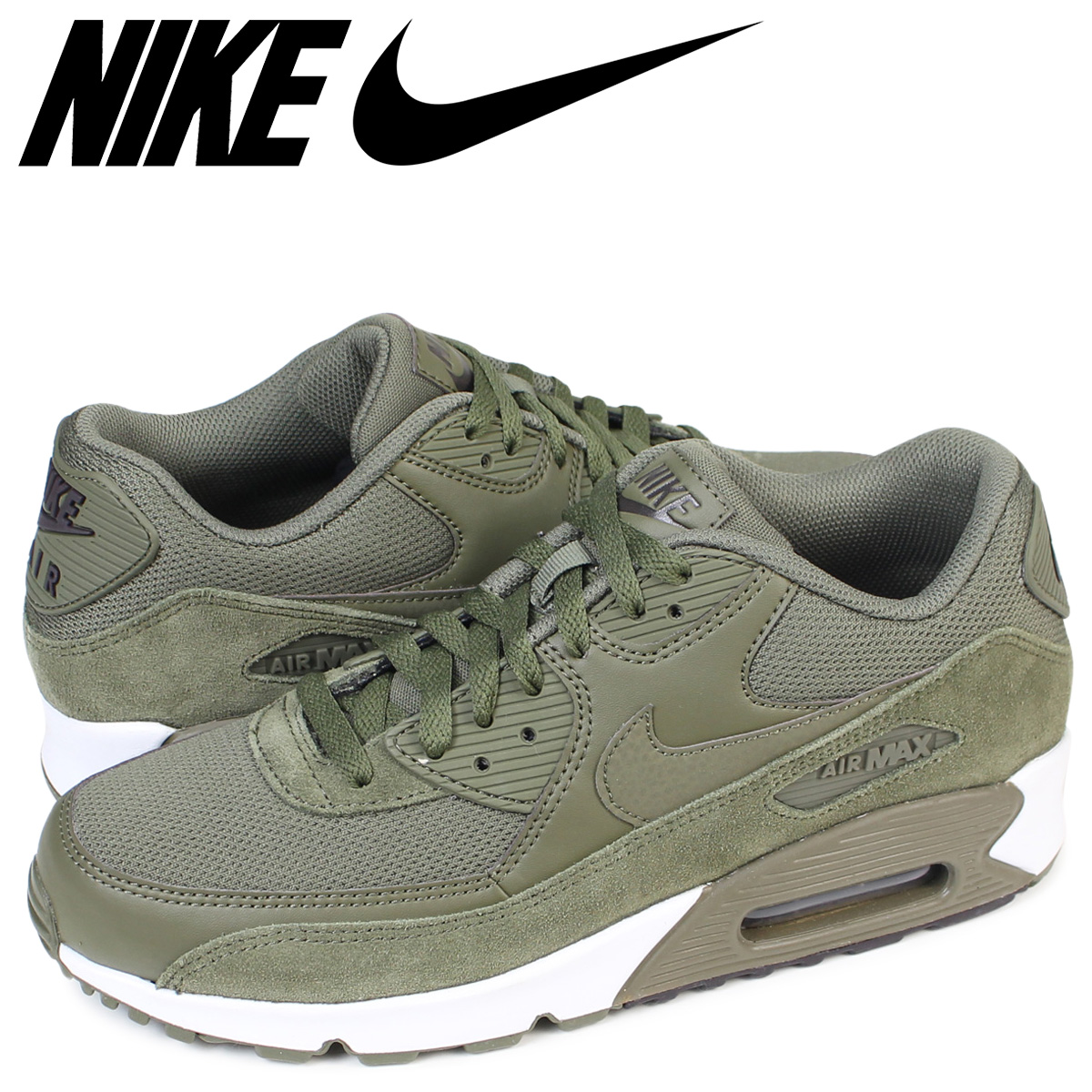 Nike NIKE Air Max 90 essential sneakers AIR MAX 90 ESSENTIAL 537,384 201 men's shoes olive [load planned Shinnyu load in reservation product 830