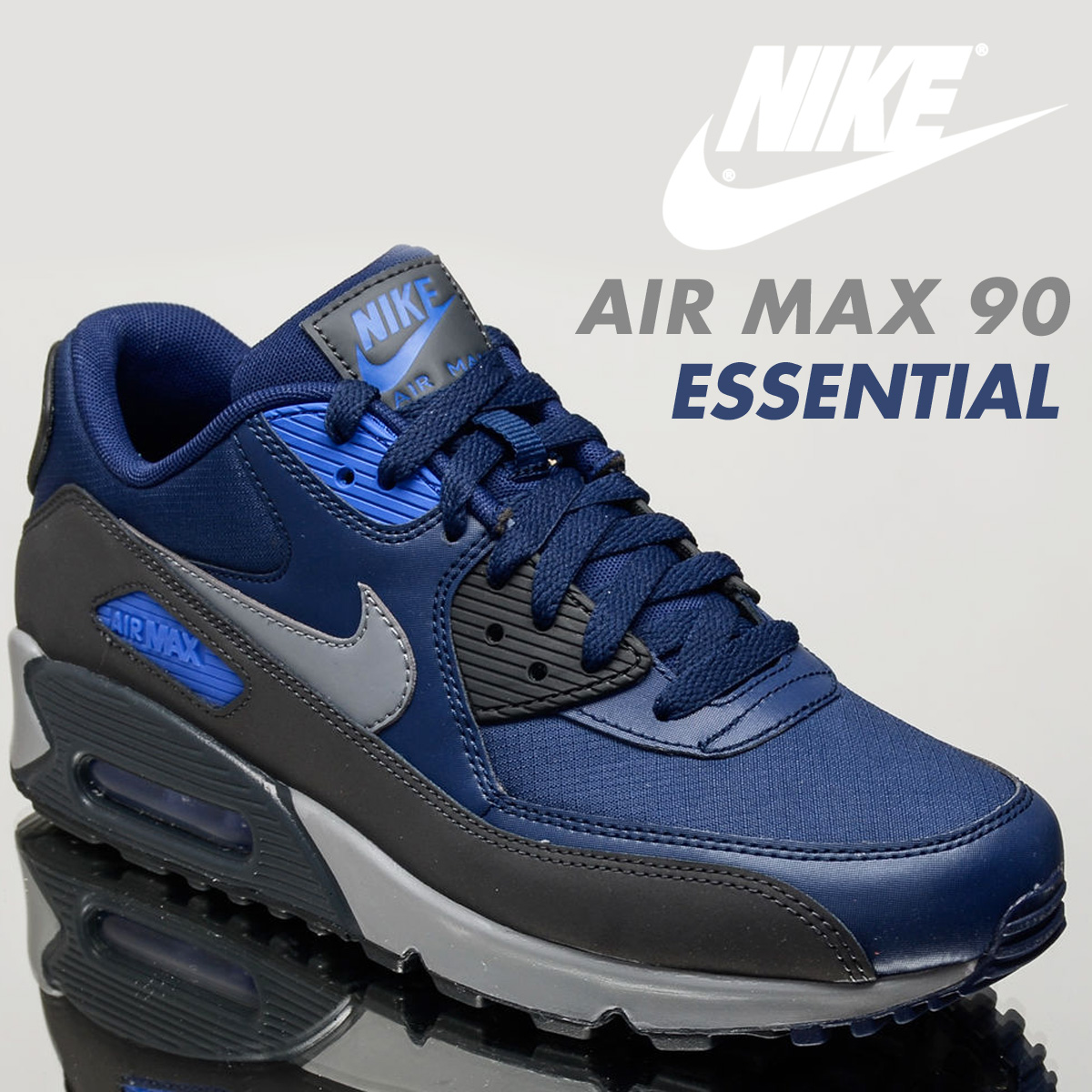 quality design f8394 4eaac Nike NIKE Air Max 90 essential sneakers AIR MAX 90 ESSENTIAL 537,384-422  men's shoes navy [load planned Shinnyu load in reservation product 8/30 ...