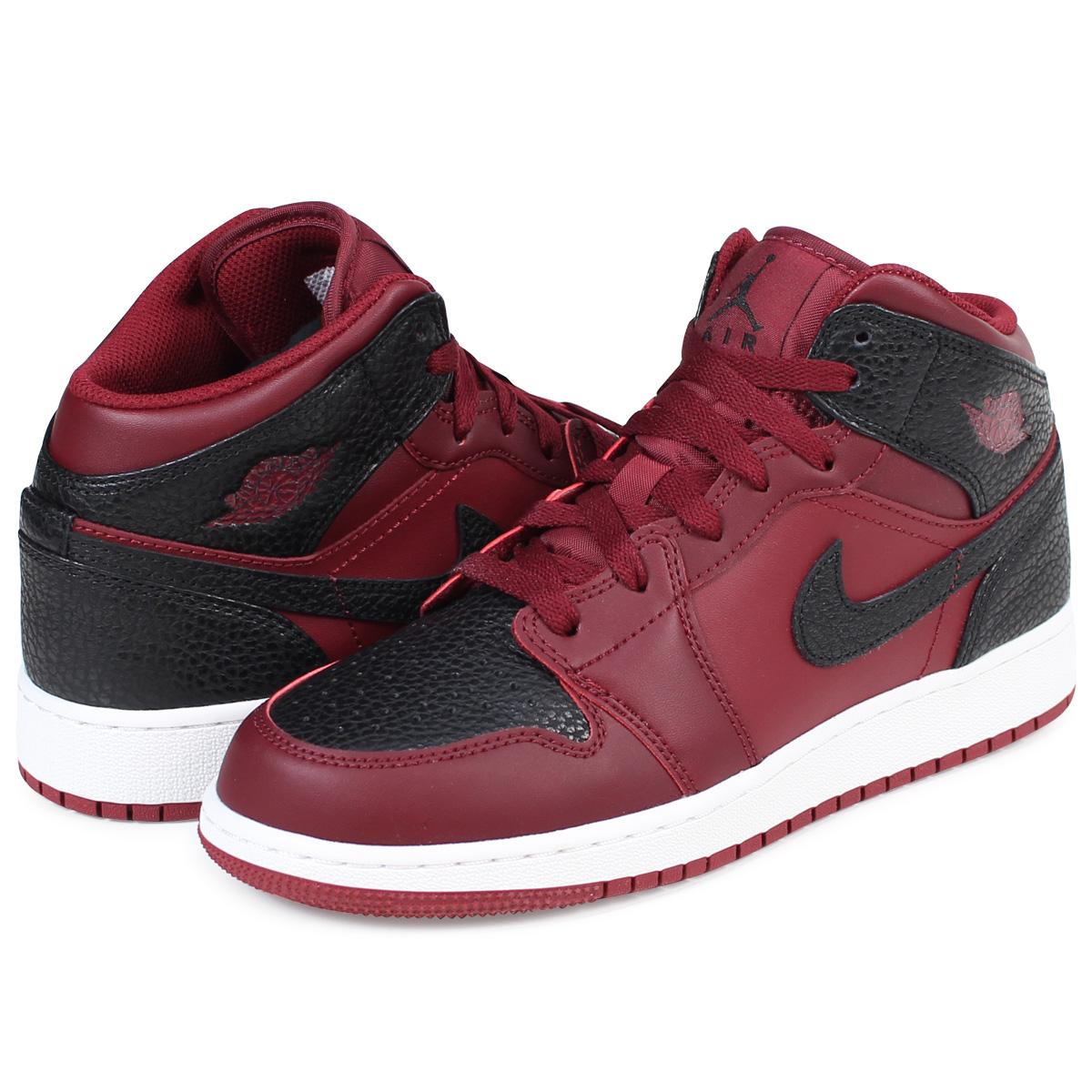 NIKE AIR JORDAN 1 MID BG Nike Air Jordan 1 Lady's sneakers 554,725-601 shoes red [1/9 Shinnyu load]