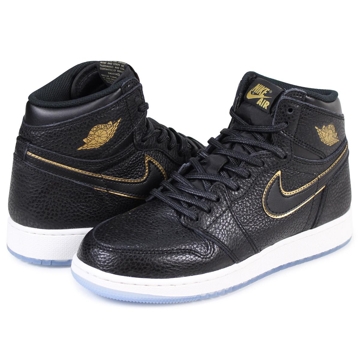 the best attitude 80992 9a758 NIKE AIR JORDAN 1 RETRO HIGH OG GS LA Nike Air Jordan 1 nostalgic Haile Dis sneakers  575,441-031 black  load planned Shinnyu load in reservation product ...