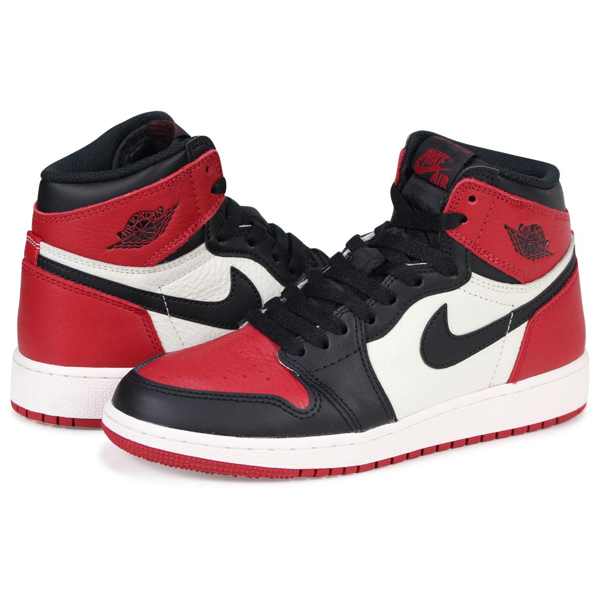 cb901342b0b92b NIKE AIR JORDAN 1 RETRO HIGH OG BG BRED TOE Nike Air Jordan 1 nostalgic  Haile ...
