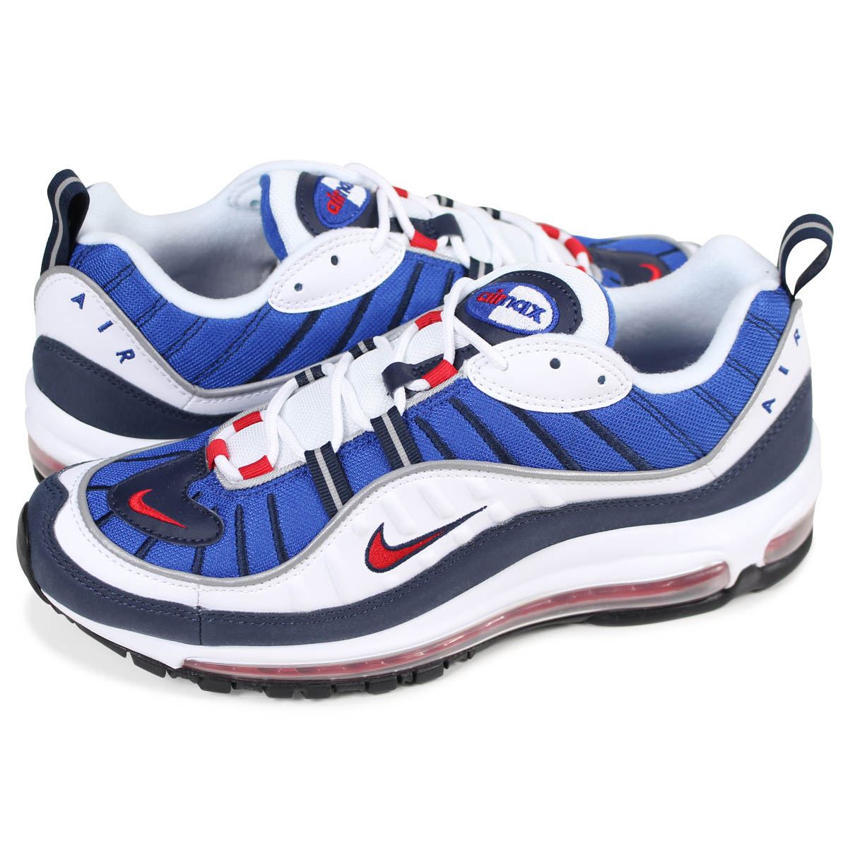 size 40 f17c8 cadd4 NIKE AIR MAX 98 GUNDAM Kie Ney AMAX 98 sneakers men 640,744-100 white [load  planned Shinnyu load in reservation product 2/14 containing]