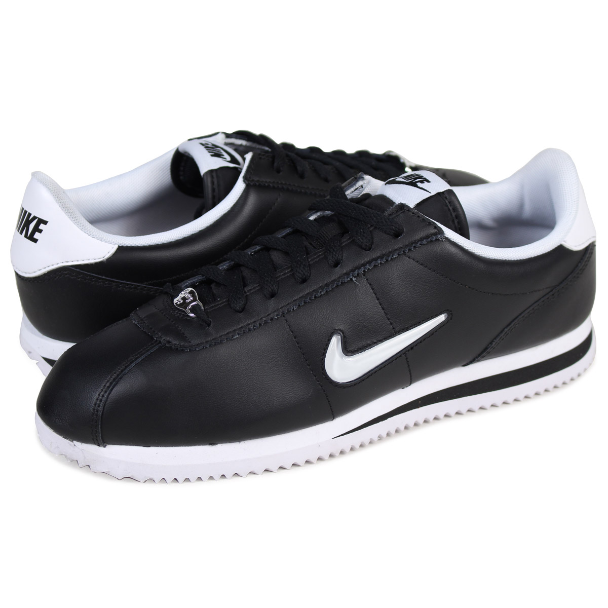 reputable site 9ea8b 1f723 NIKE CORTEZ BASIC JEWEL ナイキコルテッツスニーカー 833,238-002 men's shoes black [load  planned Shinnyu load in reservation product 10/13 ...