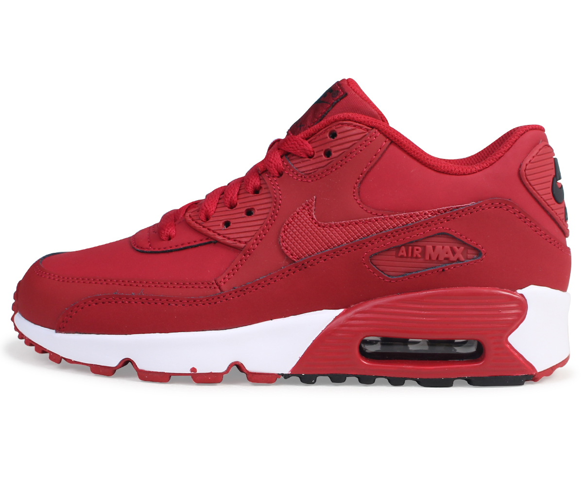 huge selection of f4e83 b79c1 Nike NIKE Air Max 90 Ladys sneakers AIR MAX 90 LEATHER GS 833,412-600 shoes  red load planned Shinnyu load in reservation product 816 containing