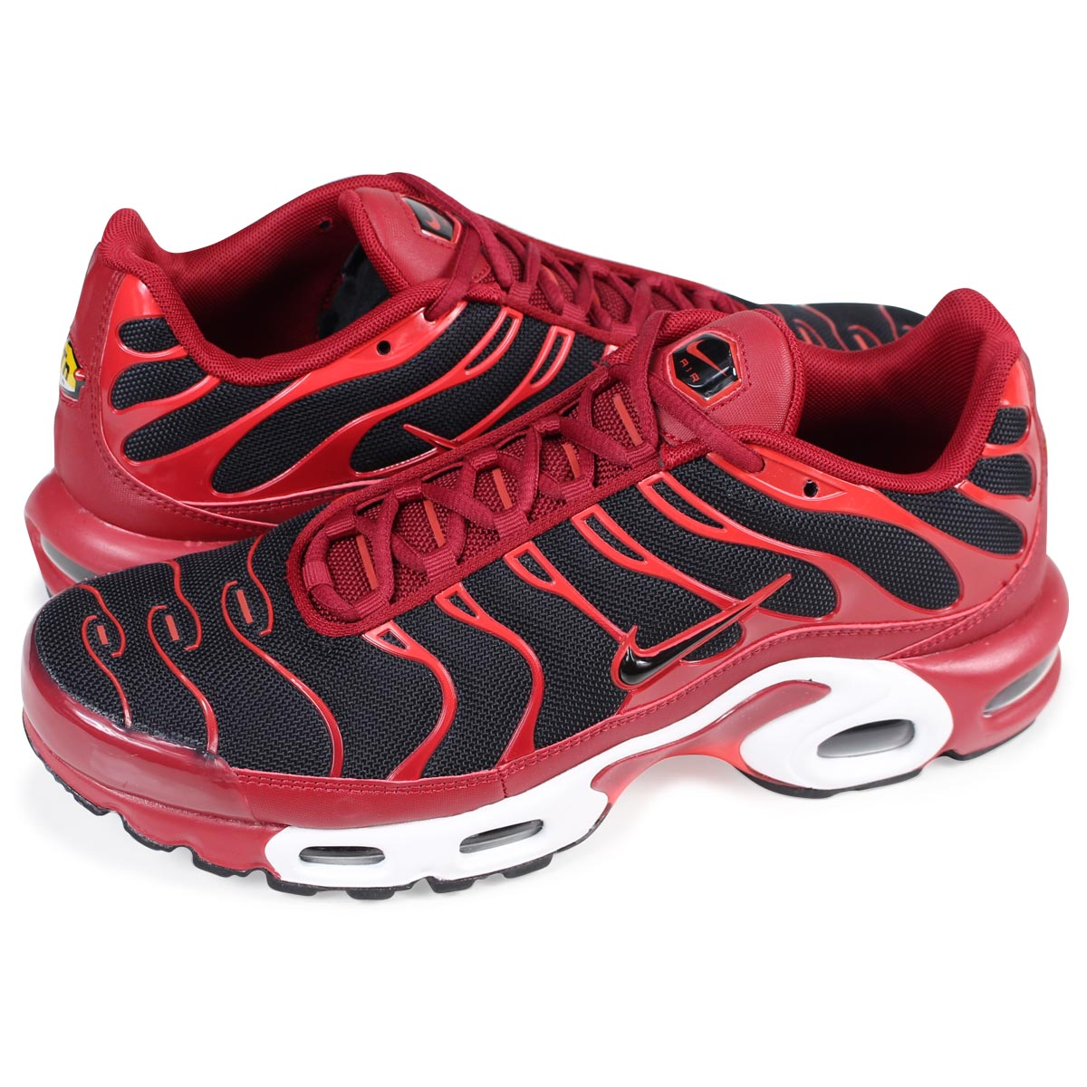 best website fea8c b691d NIKE AIR MAX PLUS Kie Ney AMAX plus sneakers 852,630-601 men's red [1/20  Shinnyu load]