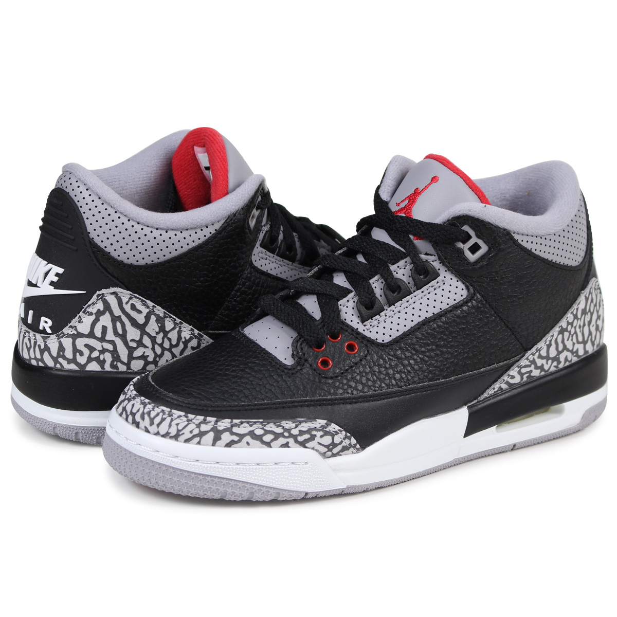 Nike NIKE Air Jordan 3 nostalgic lady's sneakers AIR JORDAN 3 RETRO OG BG  854,261-001 black