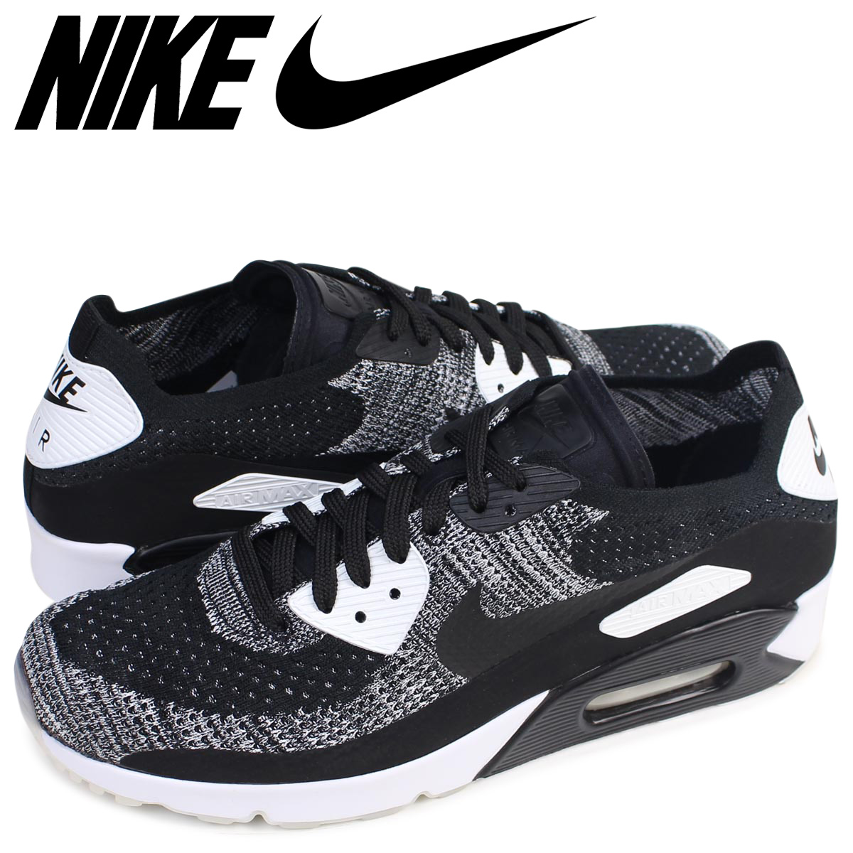 4a37c6d91d Whats up Sports: Nike NIKE Air Max 90 ultra fly knit sneakers AIR MAX 90  ULTRA 2.0 FLYKNIT 875,943-001 men's shoes black [load planned Shinnyu load  in ...