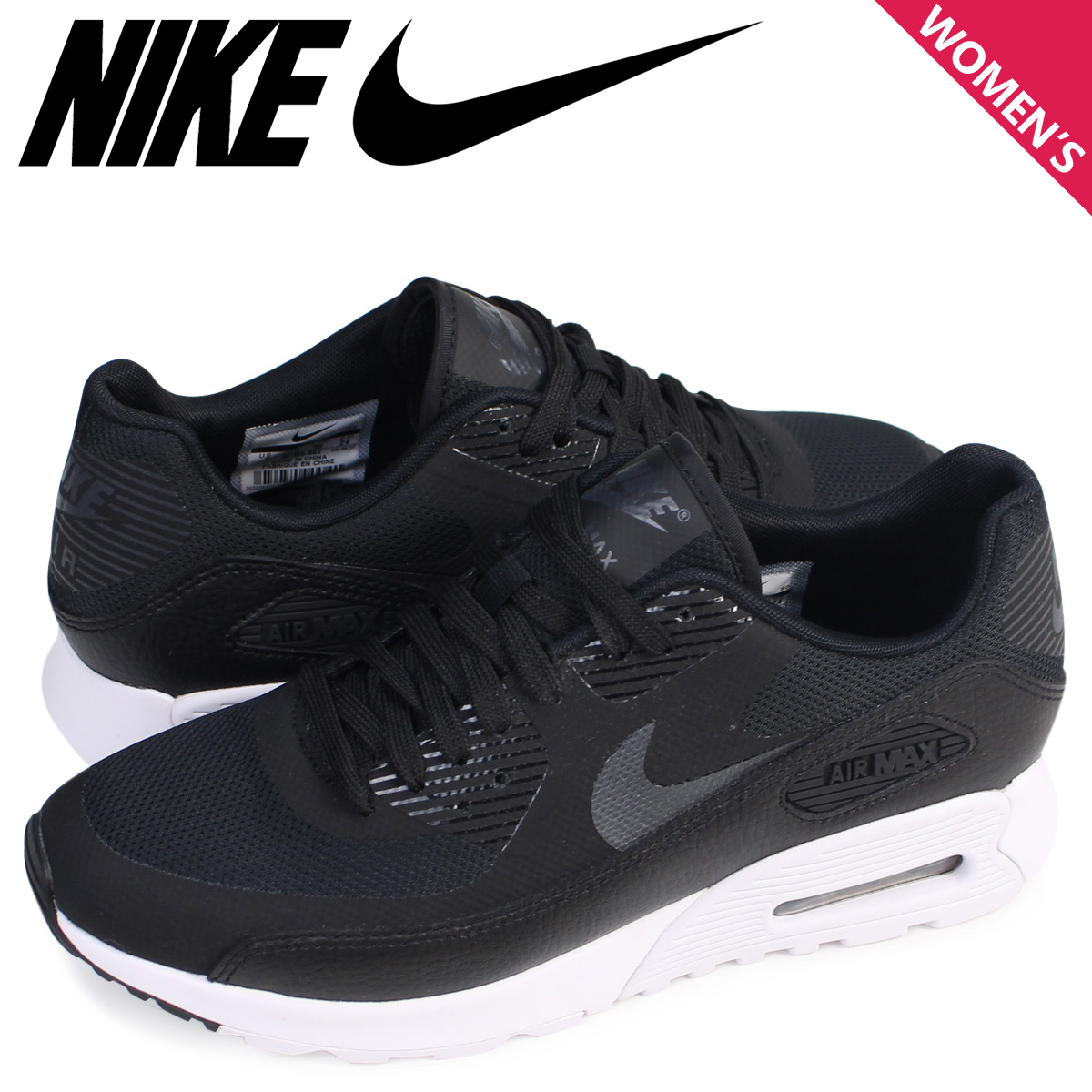 sports shoes f16dc 7c056 Nike NIKE Air Max 90 ultra Lady s sneakers WMNS AIR MAX 90 ULTRA 2.0 881,106 -002 shoes black  8 9 Shinnyu load