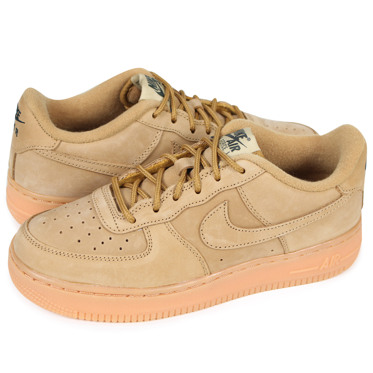 outlet boutique popular brand special for shoe NIKE AIR FORCE 1 LOW WINTER PREMIUM GS WHEAT Nike air force 1 lady's  sneakers 943,312-200 beige [2/28 Shinnyu load]