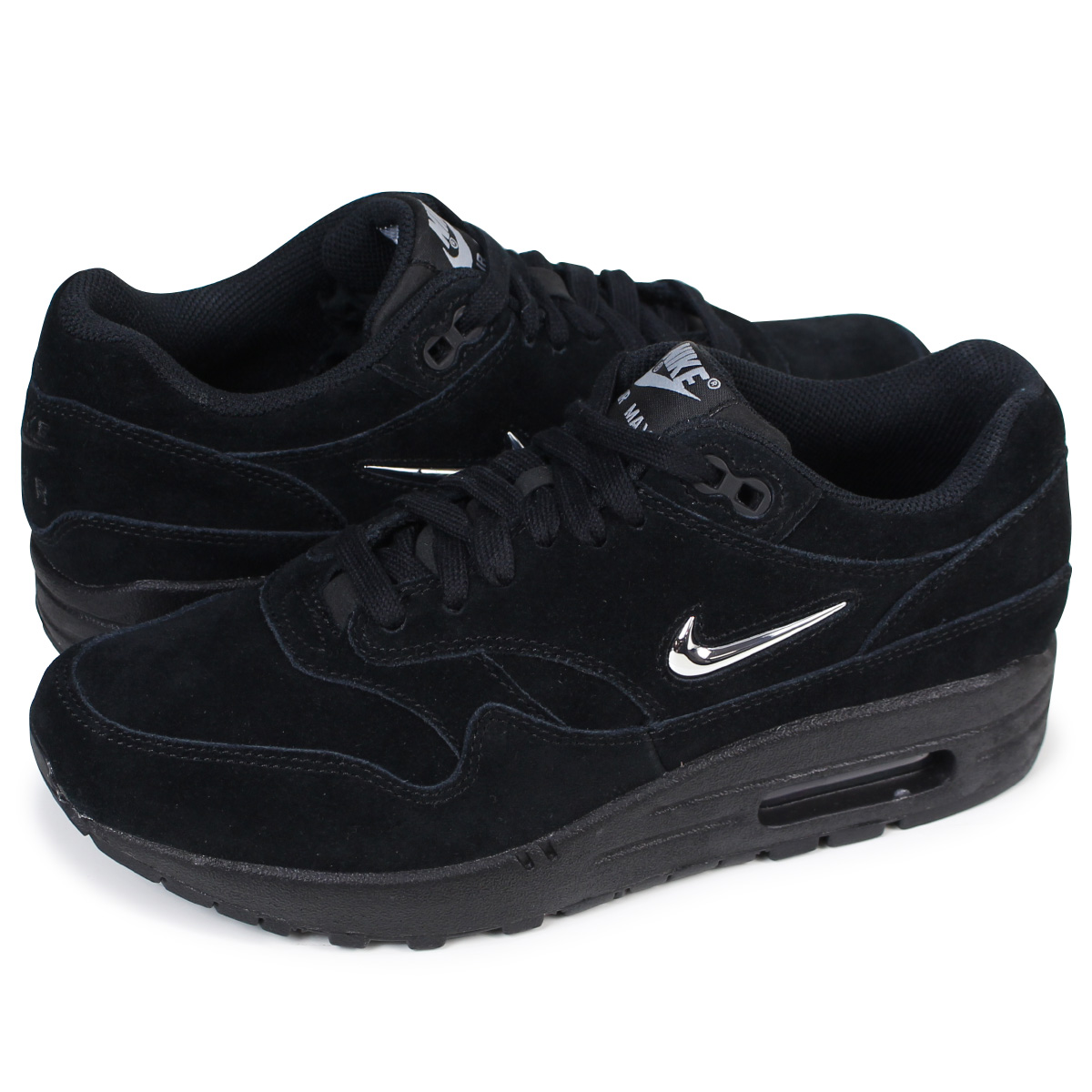 Nike Womens Air Max 1 Premium SC BlackMetallic Silver AA0512 001