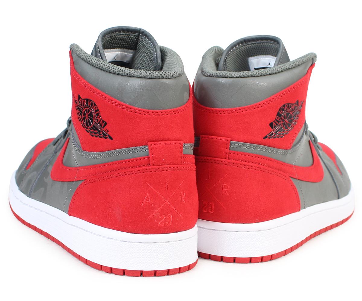 d3f813c1a5ce01 Nike NIKE Air Jordan 1 nostalgic high sneakers AIR JORDAN 1 RETRO HIGH  PREMIUM AA3993-032 men shoes gray  load planned Shinnyu load in reservation  product ...