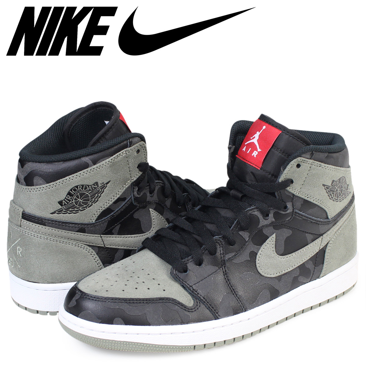 f374418bb54 Whats up Sports: Nike NIKE Air Jordan 1 nostalgic high sneakers AIR JORDAN  1 RETRO HIGH PREMIUM AA3993-034 men shoes black [load planned Shinnyu load  in ...