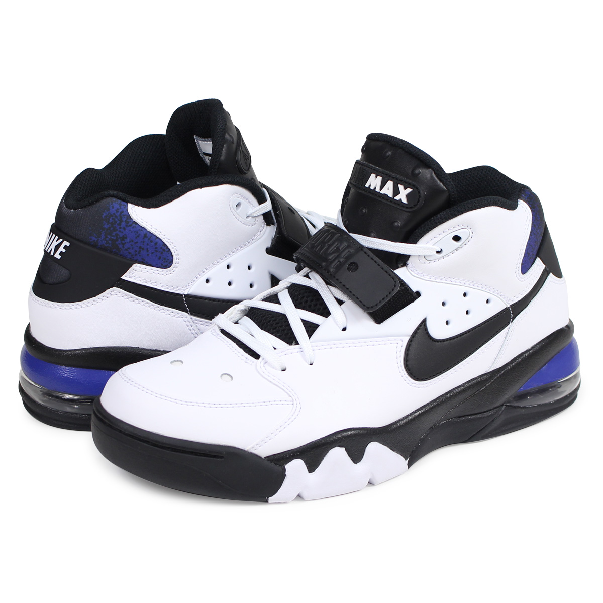 NIKE AIR FORCE MAX 93 CHARLES BARKLEY Nike air force max sneakers AH5534 100 men white [load planned Shinnyu load in reservation product 113