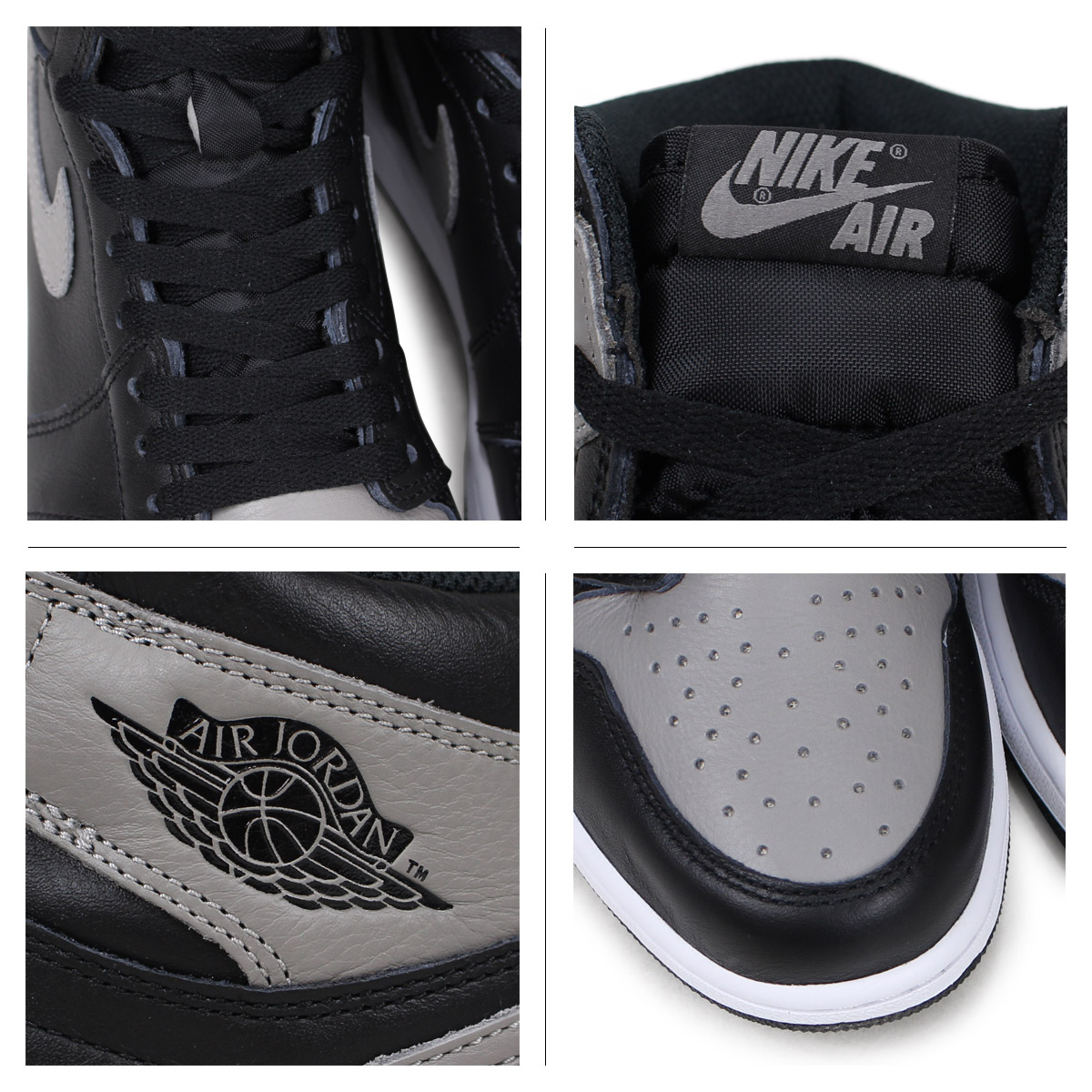 NIKE AIR JORDAN 1 RETRO HIGH OG SHADOW Nike Air Jordan 1 nostalgic high sneakers men 555,088 013 gray [load planned Shinnyu load in reservation