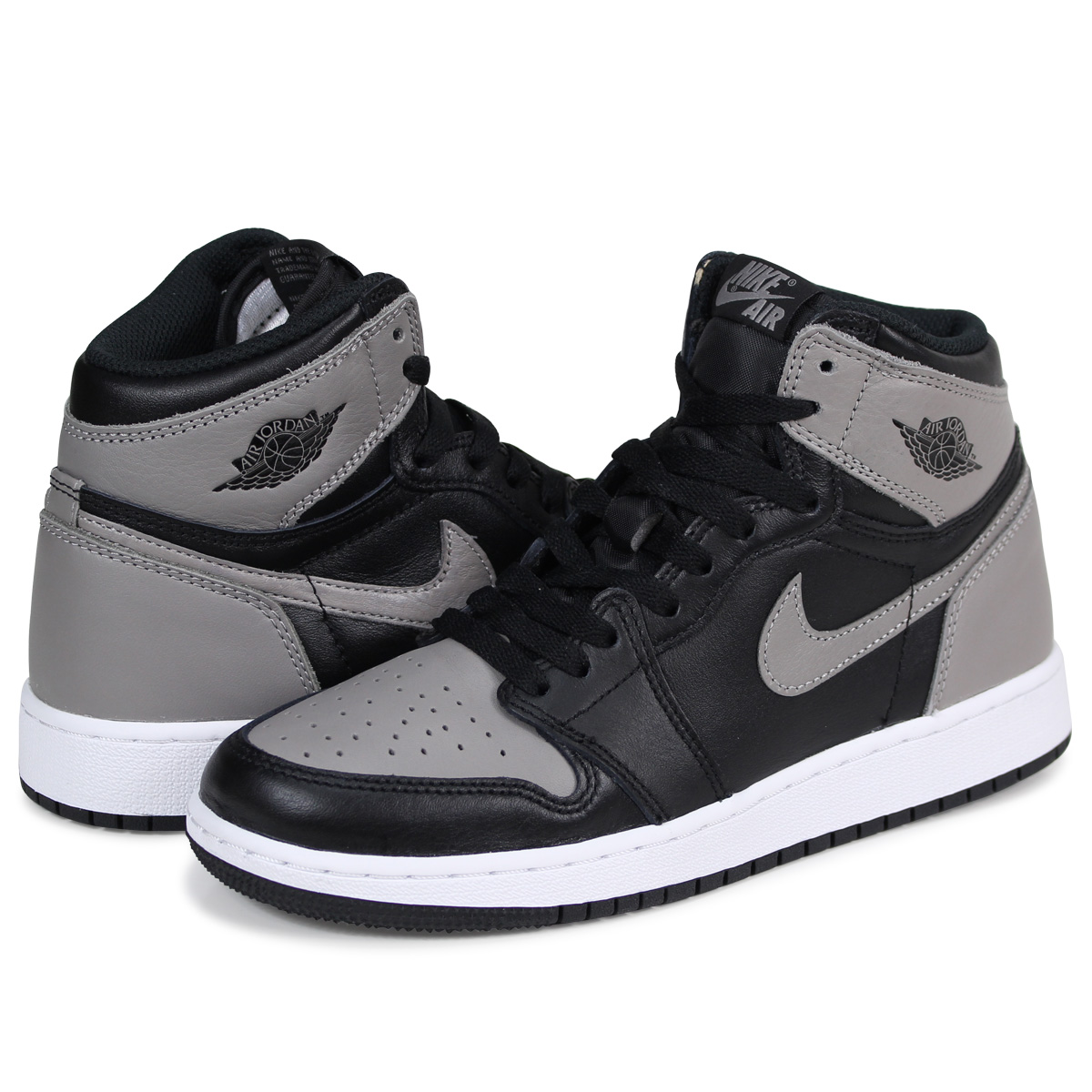 new product 7a968 e2322 NIKE AIR JORDAN 1 RETRO HIGH BG Nike Air Jordan 1 nostalgic Haile Dis  sneakers 575,441-013 gray [load planned Shinnyu load in reservation product  5/2 ...