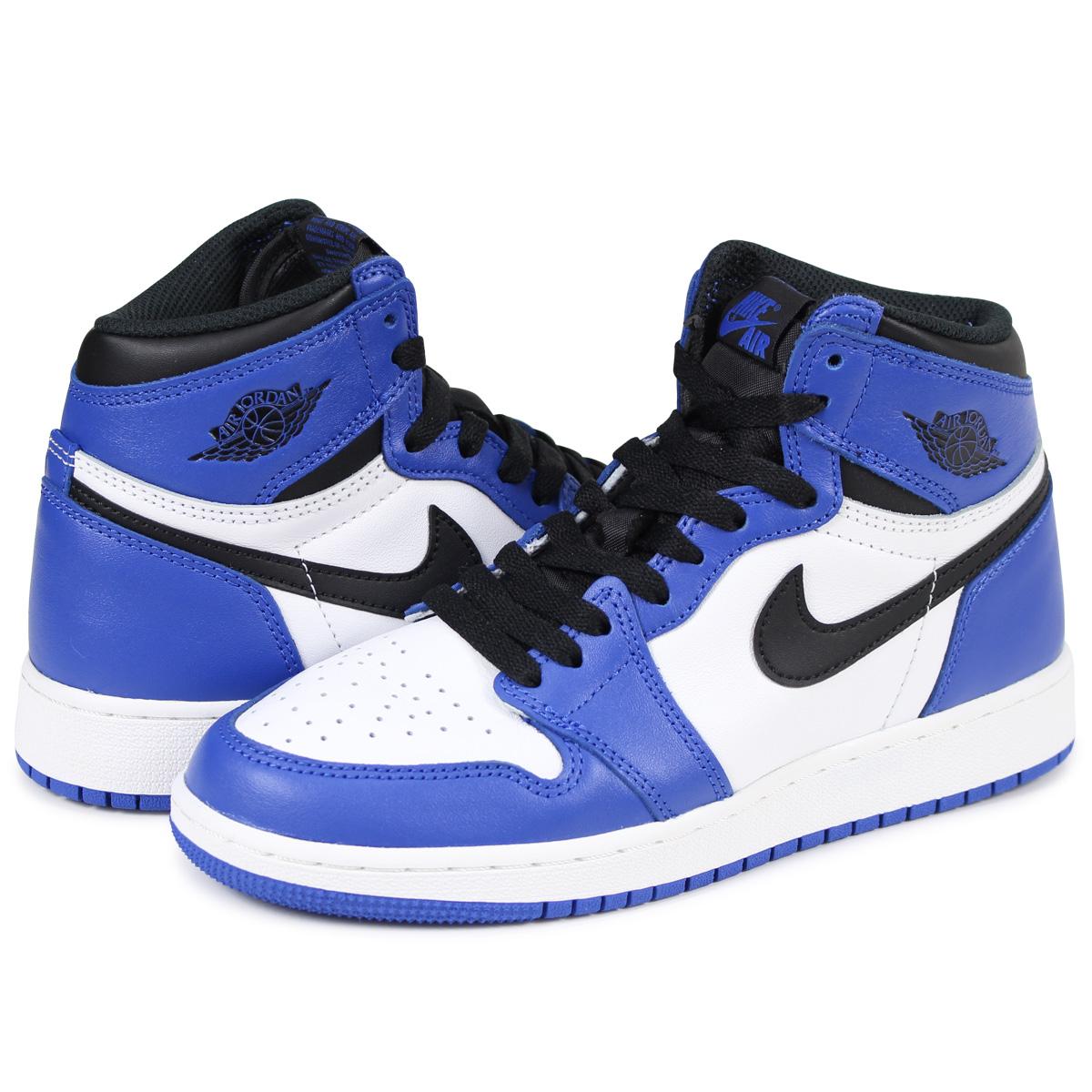 e27a91d01cec NIKE AIR JORDAN 1 RETRO HIGH OG BG GAME ROYAL Nike Air Jordan 1 nostalgic  Haile Dis sneakers 575