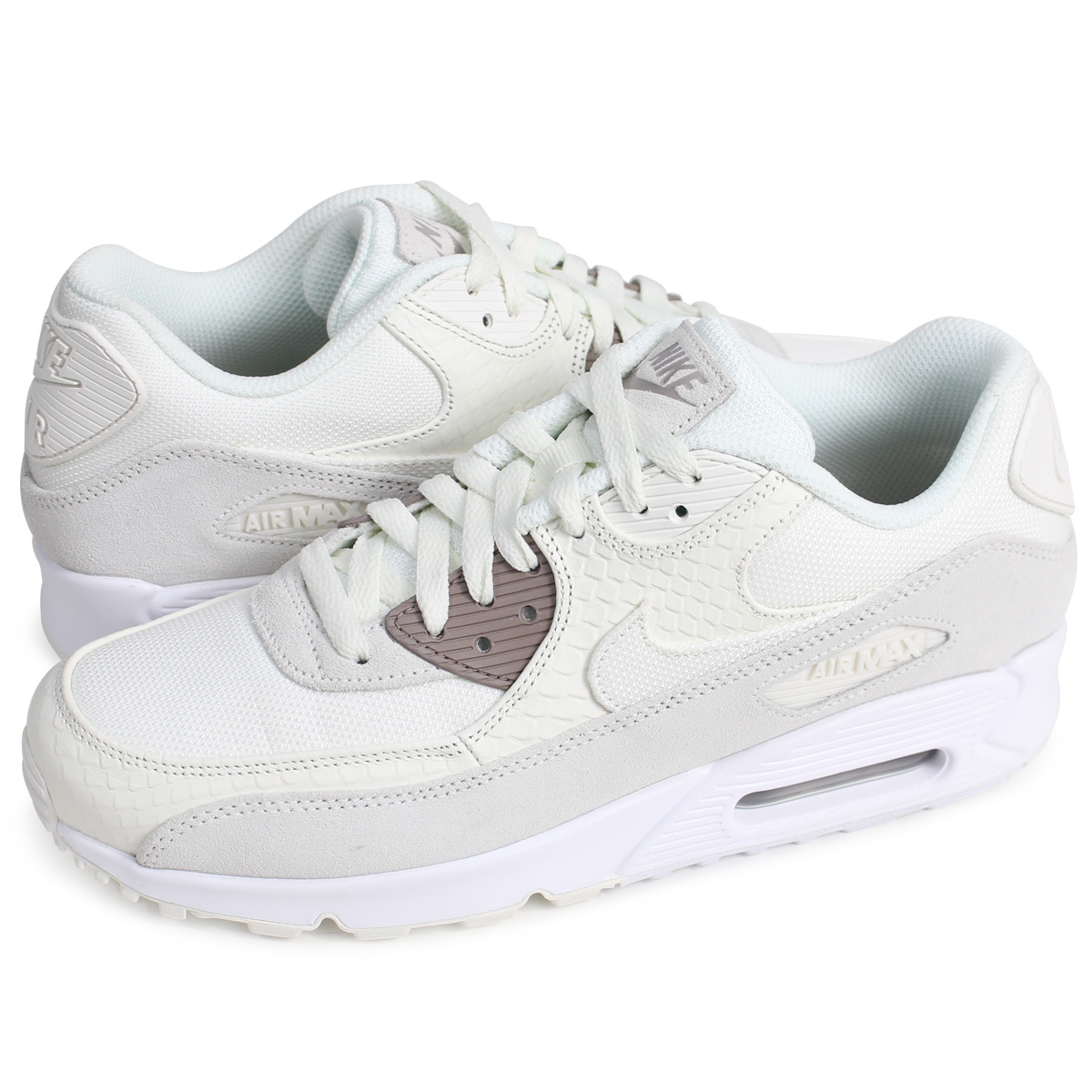 NIKE AIR MAX 90 PREMIUM Kie Ney AMAX 90 sneakers men 700,155-102 off-white  [4/17 Shinnyu load]