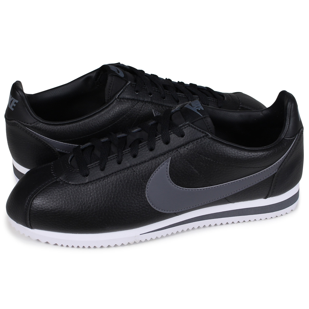 reputable site 23365 795c8 Nike NIKE コルテッツスニーカー CLASSIC CORTEZ LEATHER 749,571-011 men's black