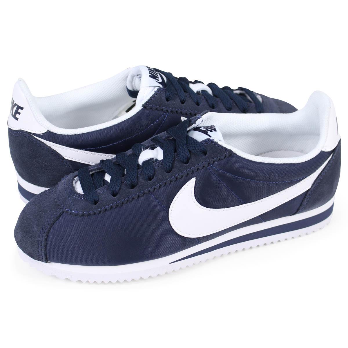 newest bbc32 07b46 Nike NIKE コルテッツクラシックレディーススニーカー WMNS CLASSIC CORTEZ NYLON 749,864-411 navy