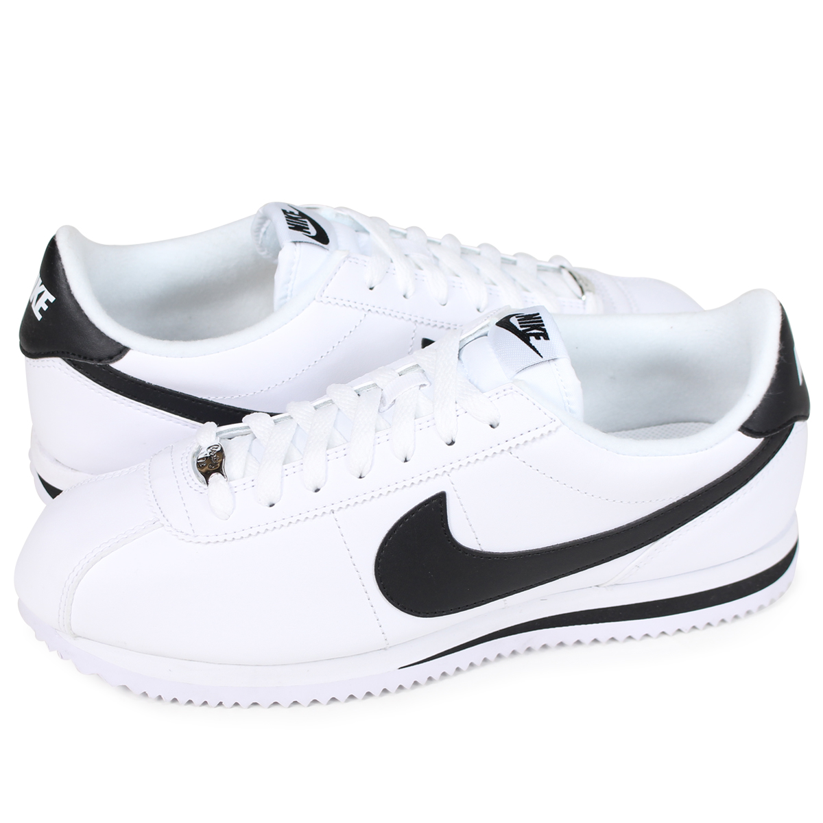 promo code d4110 25198 NIKE Nike Cortez sneakers CORTEZ BASIC LEATHER 819719-100 mens shoes white