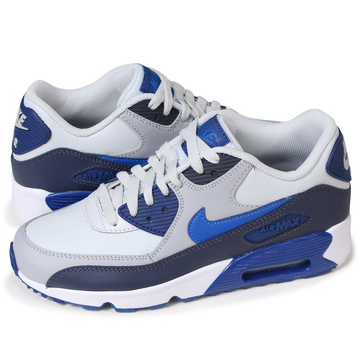 nouveau style c0429 e946d NIKE AIR MAX 90 LEATHER GS Kie Ney AMAX 90 Lady's sneakers 833,412-407 blue  [5/12 Shinnyu load]