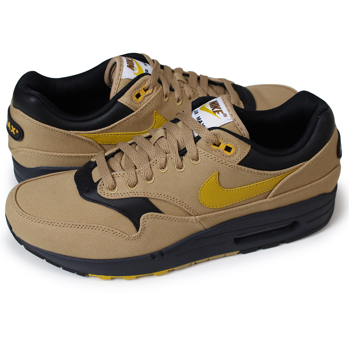 8ad7e0274c Whats up Sports: NIKE AIR MAX 1 PREMIUM Kie Ney AMAX 1 premium sneakers men  875,844-700 beige [load planned Shinnyu load in reservation product 5/18 ...