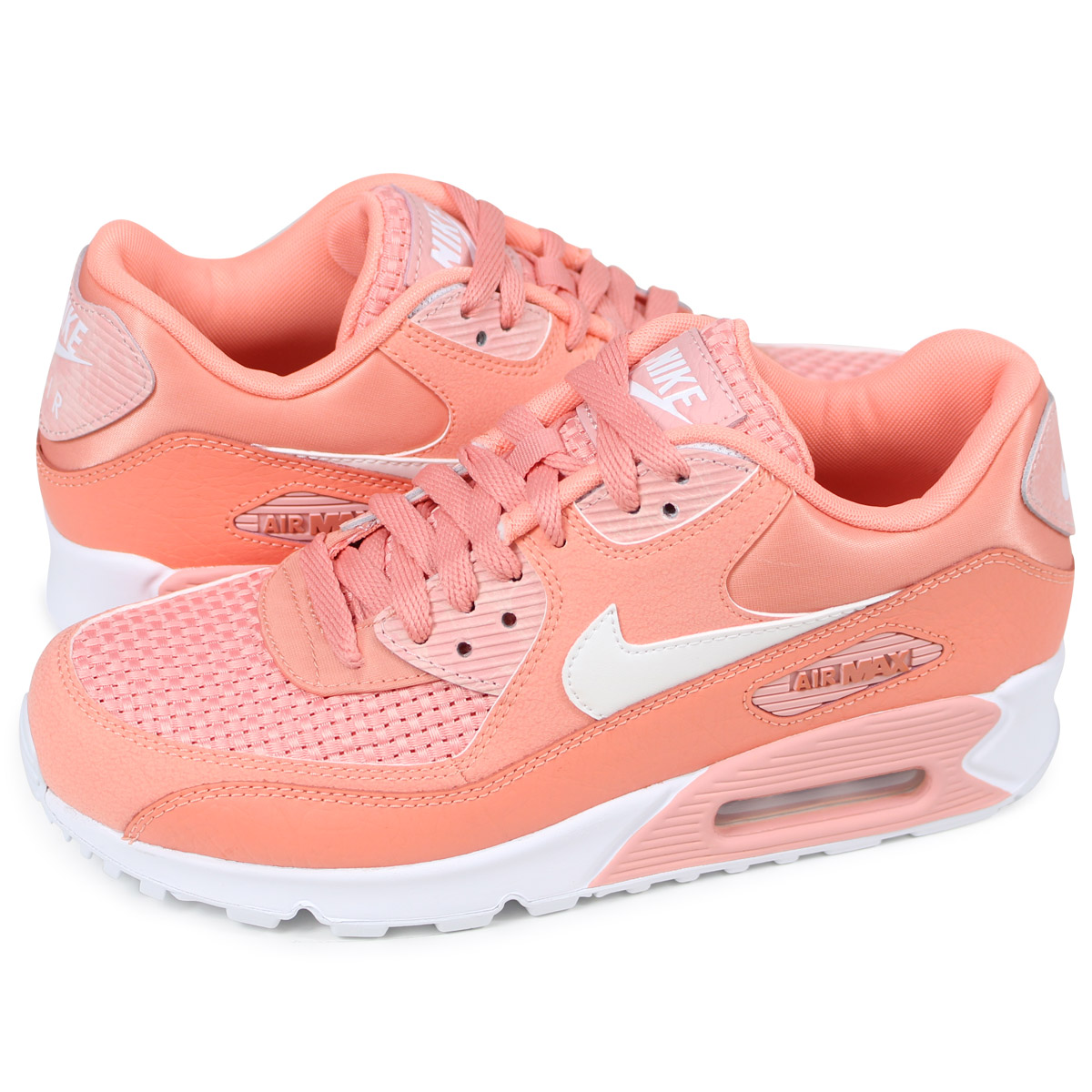NIKE WMNS AIR MAX 90 SE Kie Ney AMAX 90 Lady's sneakers 881,105 604 pink [load planned Shinnyu load in reservation product 512 containing]