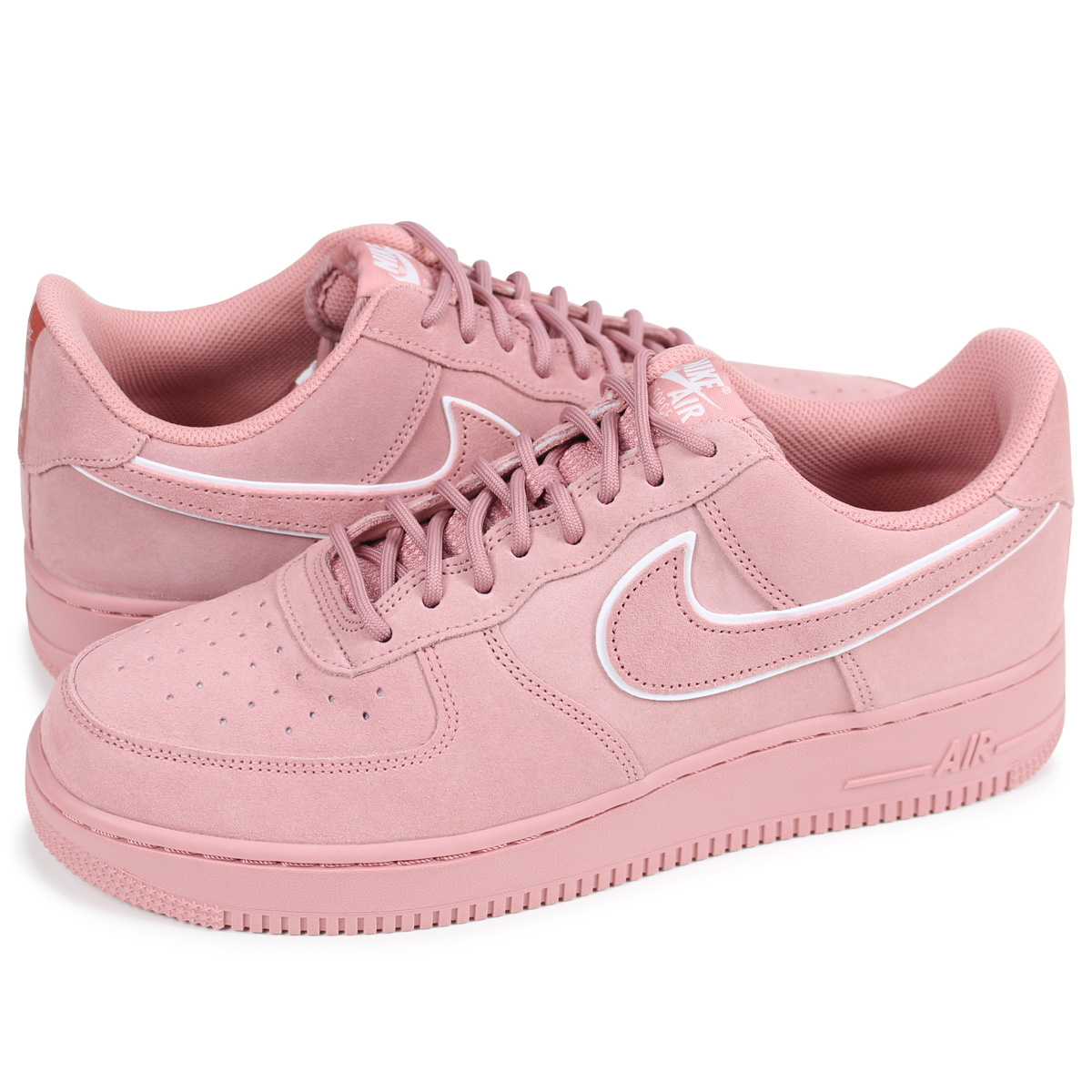 NIKE AIR FORCE 1 SUEDE Nike air force 1 07 LV8 sneakers men AA1117 601 pink [load planned Shinnyu load in reservation product 330 containing]