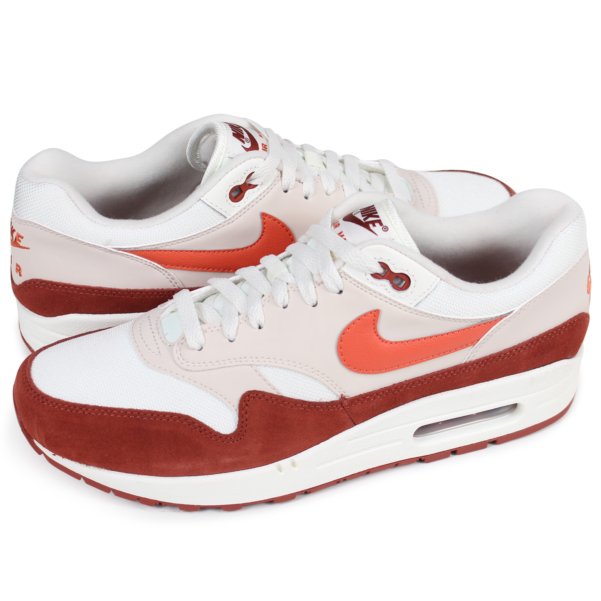 NIKE AIR MAX 1 Kie Ney AMAX 1 sneakers men AH8145 104 off white [load planned Shinnyu load in reservation product 413 containing]