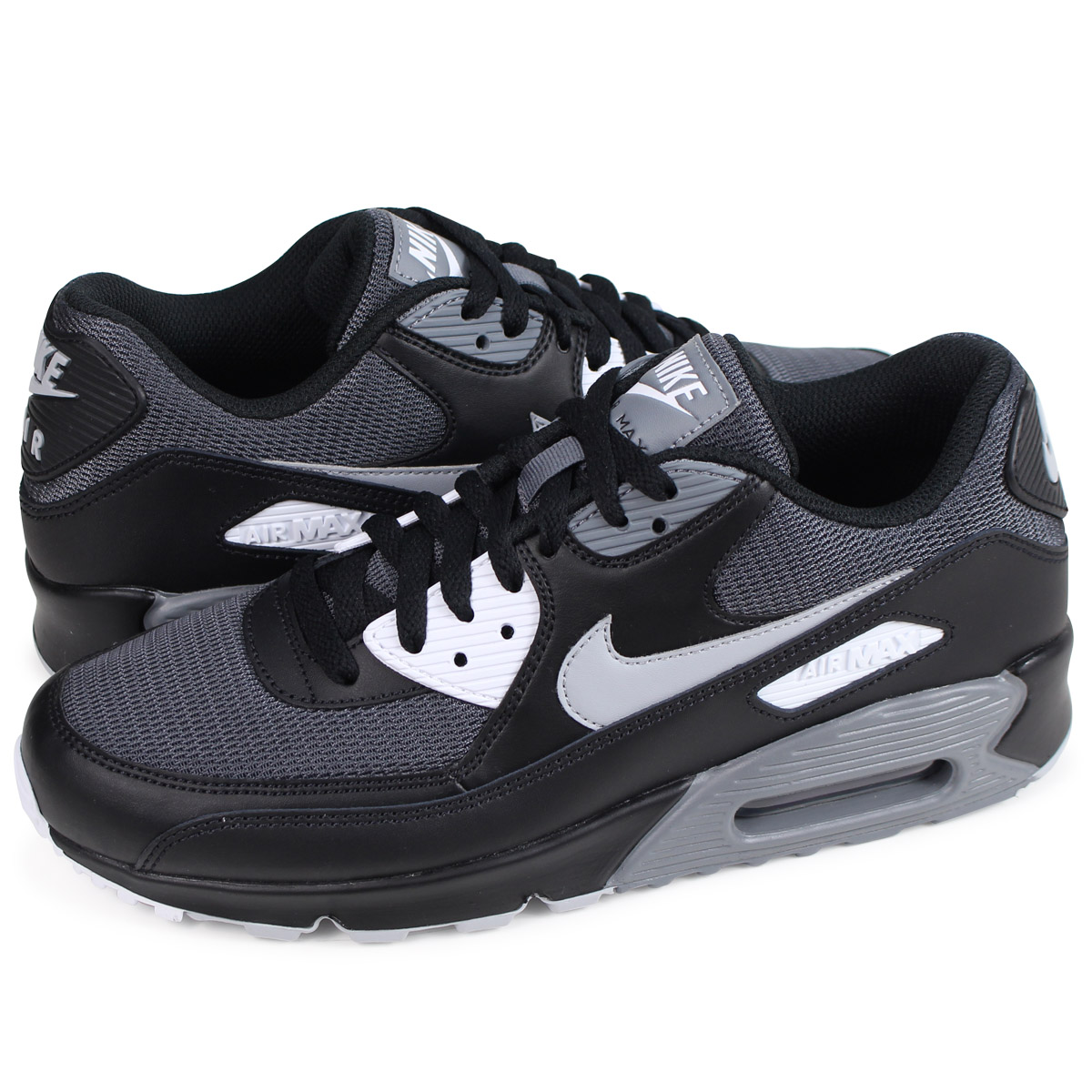 cheap for discount fa6be 06b29 NIKE AIR MAX 90 ESSENTIAL Kie Ney AMAX 90 essential sneakers men gap Dis  AJ1285-003 black [load planned Shinnyu load in reservation product 3/30 ...