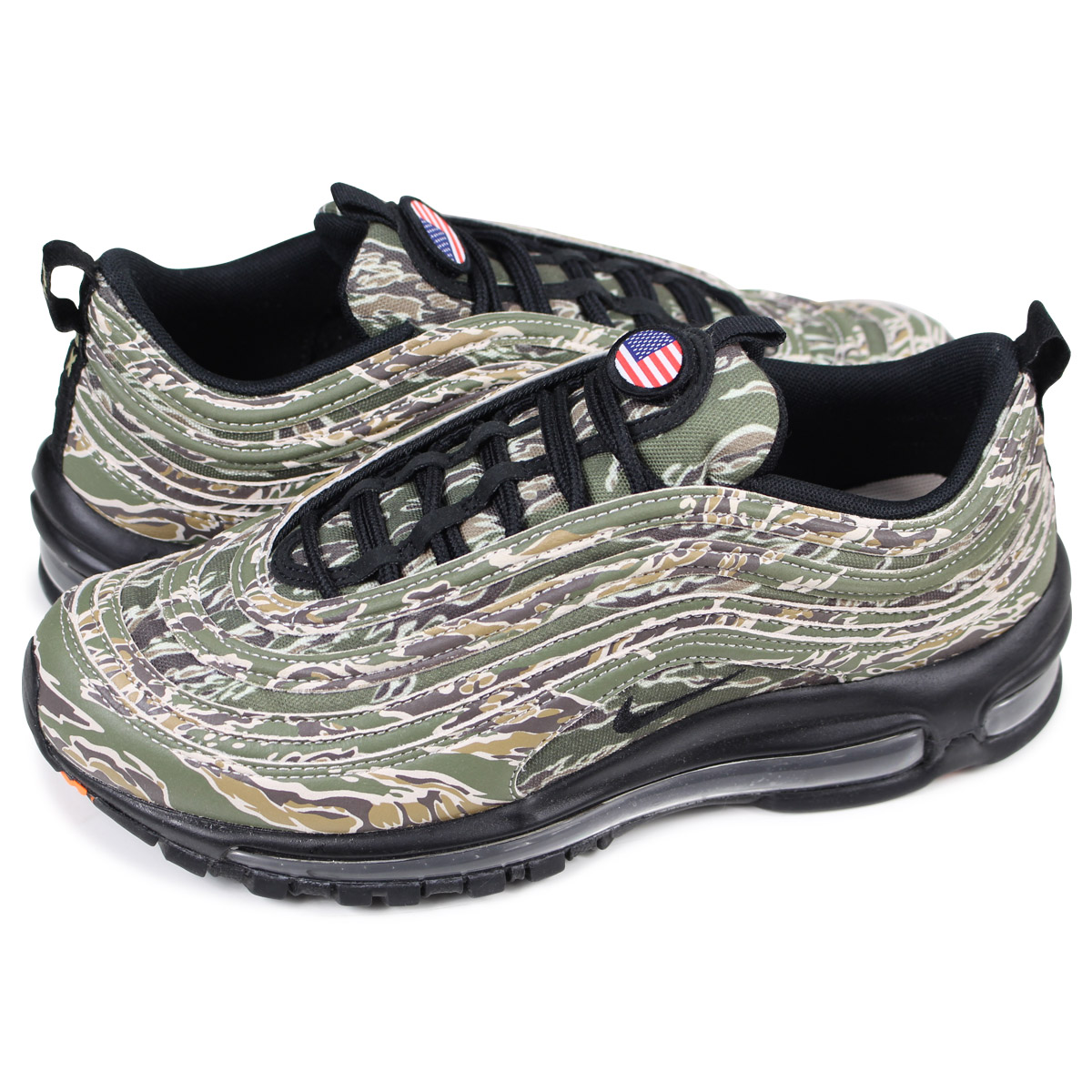 NIKE AIR MAX 97 QS COUNTRY CAMO PACK Kie Ney AMAX 97 sneakers men AJ2614 205 duck
