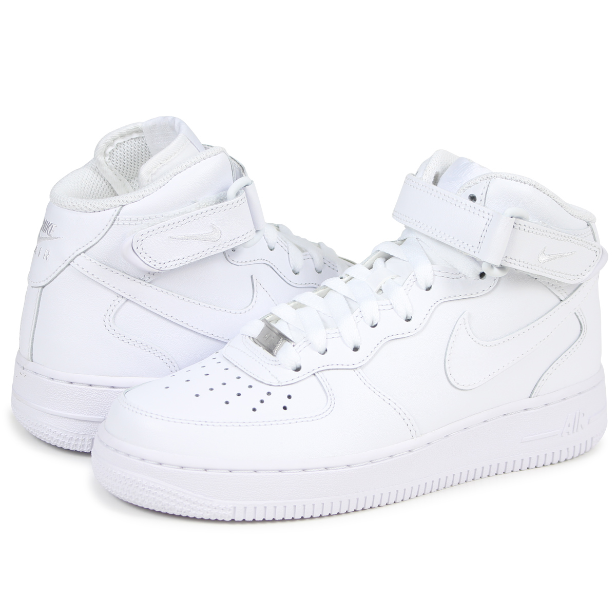 NIKE Nike Air Force sneakers Womens WMNS AIR FORCE 1 MID 07 air force 1 mid  366731 - 100 men s shoes white  8 2 Add in stock  25269e34d