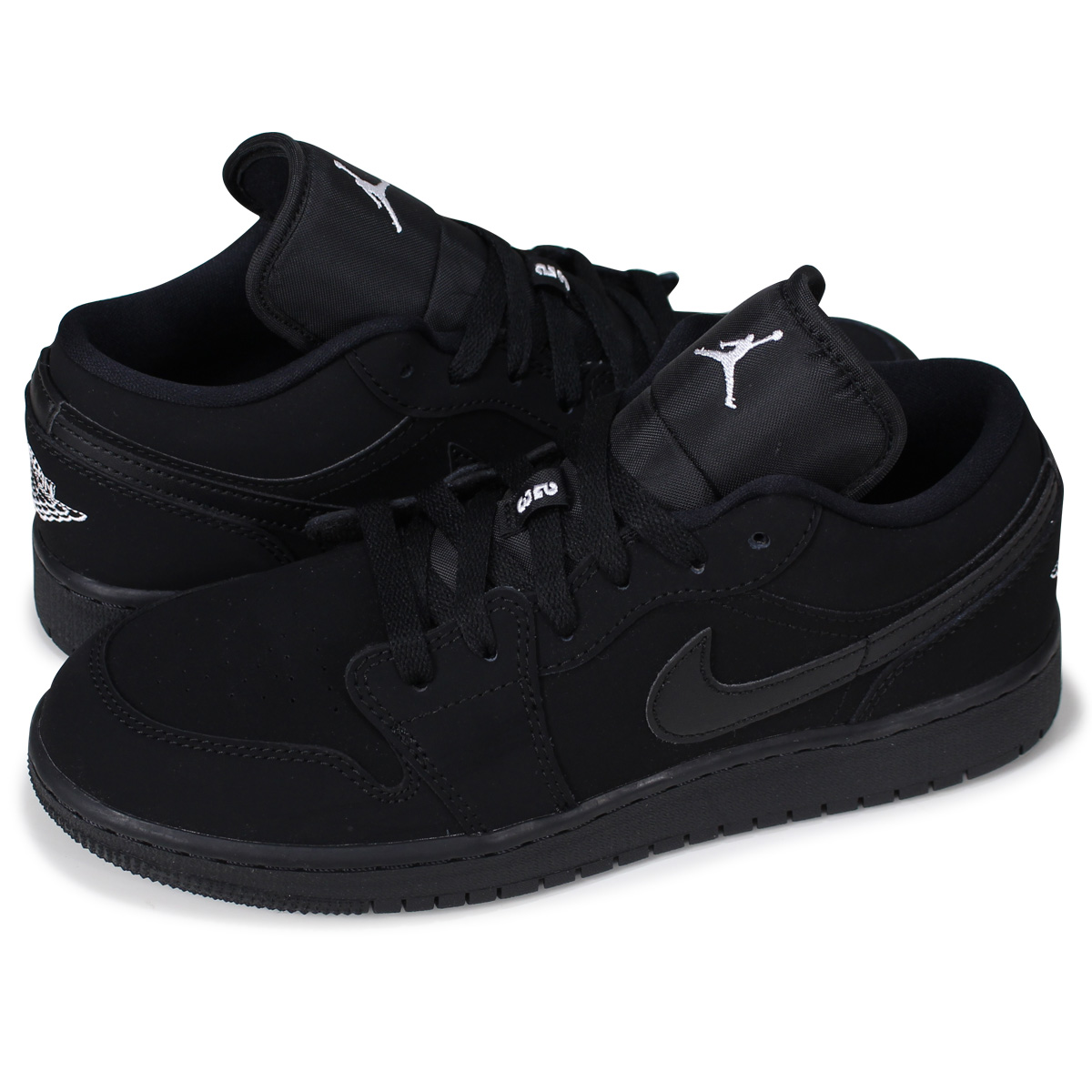 separation shoes dfa59 67202 NIKE AIR JORDAN 1 LOW GS Nike Air Jordan 1 Lady's sneakers 553,560-019  black [7/13 Shinnyu load]
