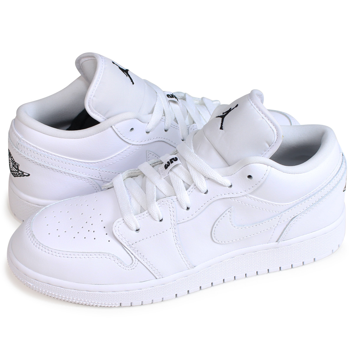detailed look d0d06 6967a NIKE Nike Air Jordan 1 Lady's sneakers AIR JORDAN 1 LOW GS 553,560-110  white [load planned Shinnyu load in reservation product 7/24 containing]