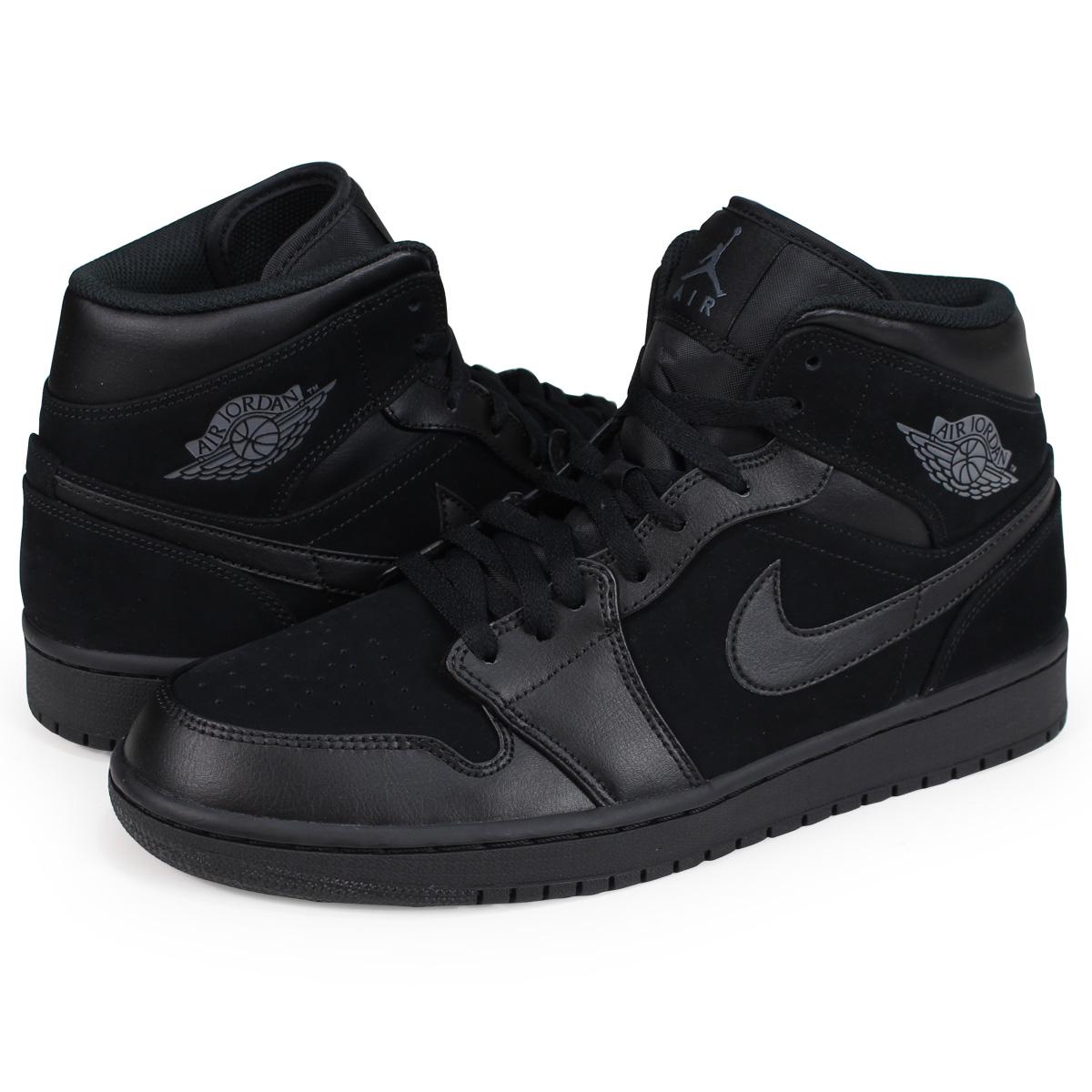 huge discount 1ae20 fc45c NIKE AIR JORDAN 1 MID Nike Air Jordan 1 sneakers men 554,724-050 black  [load planned Shinnyu load in reservation product 8/3 containing]