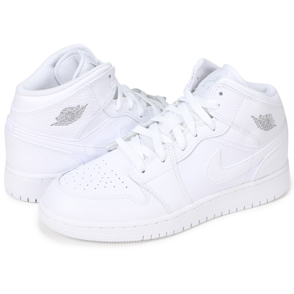 quality design 6d7fa 96e6a NIKE AIR JORDAN 1 MID GS Nike Air Jordan 1 Lady's sneakers 554,725-109  white [7/13 Shinnyu load]