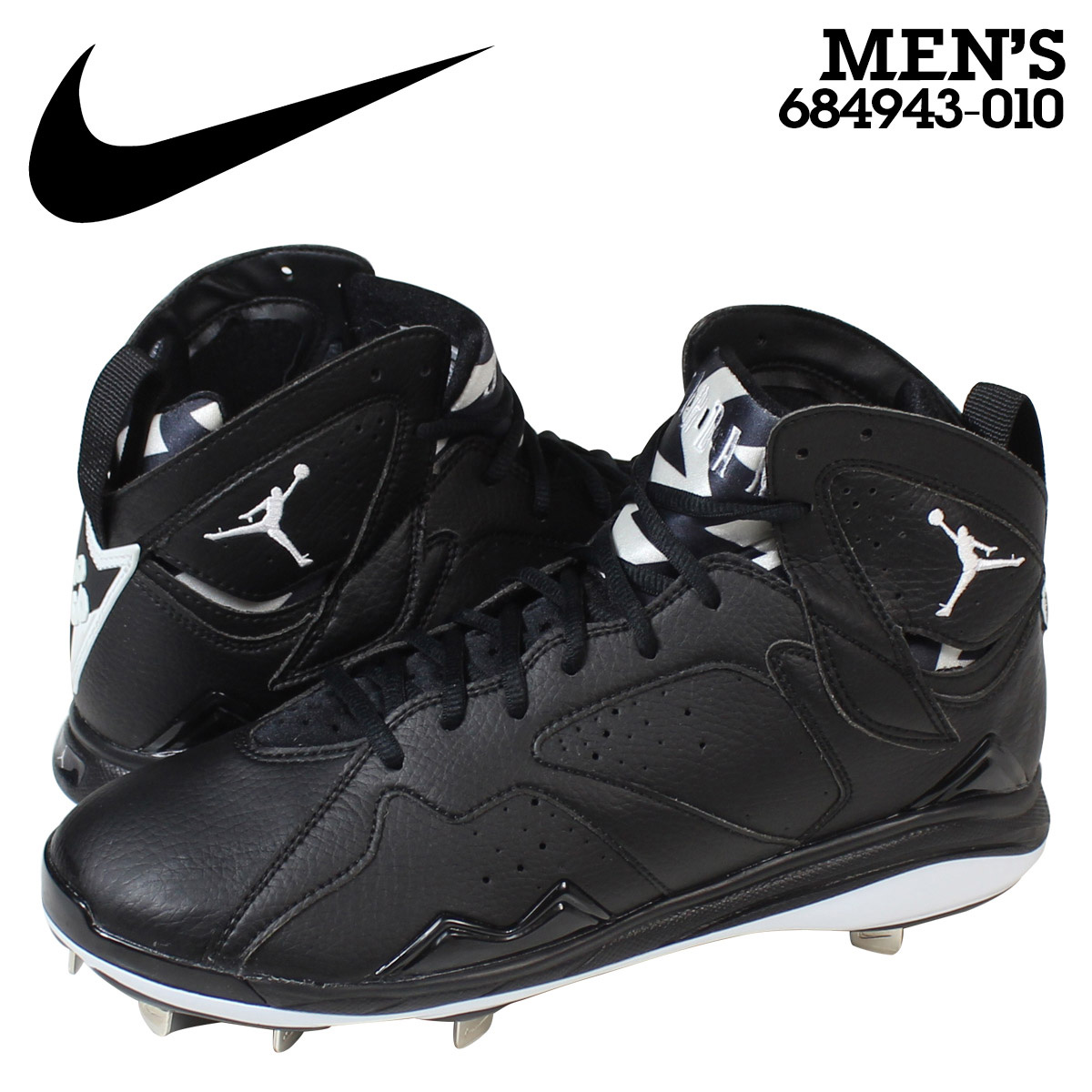 best website 96e81 6dae9 NIKE AIR JORDAN 7 RETRO METAL Nike Air Jordan 7 nostalgic spikes men  684,943-010 black
