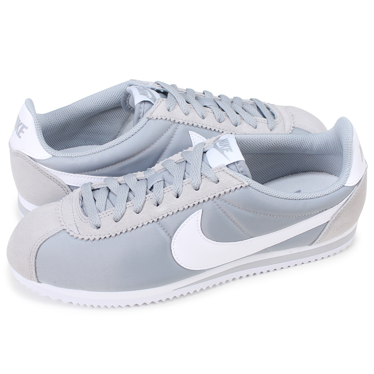 outlet store 4b573 7674f NIKE Nike classic Cortez sneaker CLASSIC CORTEZ NYLON 807472-010 Wolf grey  men's women's shoes grey