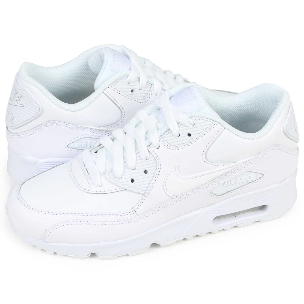 hot sale online b9355 68e77 Nike NIKE Air Max 90 Lady s sneakers AIR MAX 90 LEATHER GS 833,412-100 white  ...