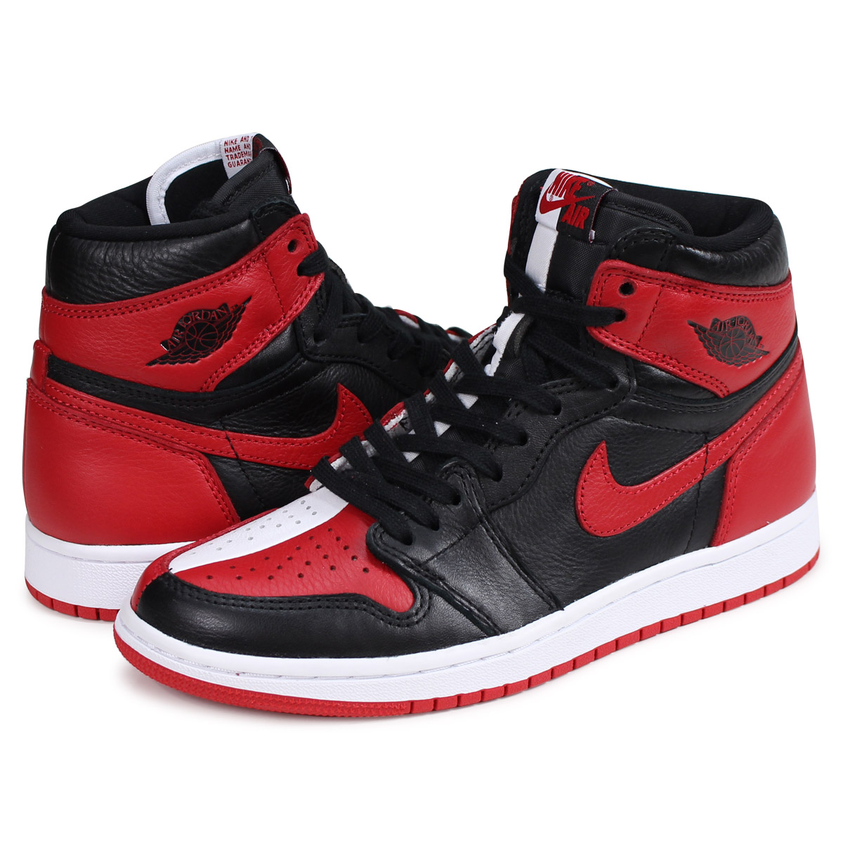 designer fashion f5f50 e63f0 NIKE AIR JORDAN 1 RETRO HIGH OG HOMAGE TO HOME Nike Air Jordan 1 nostalgic  Haile Dis sneakers 861,428-061 red  load planned Shinnyu load in  reservation ...